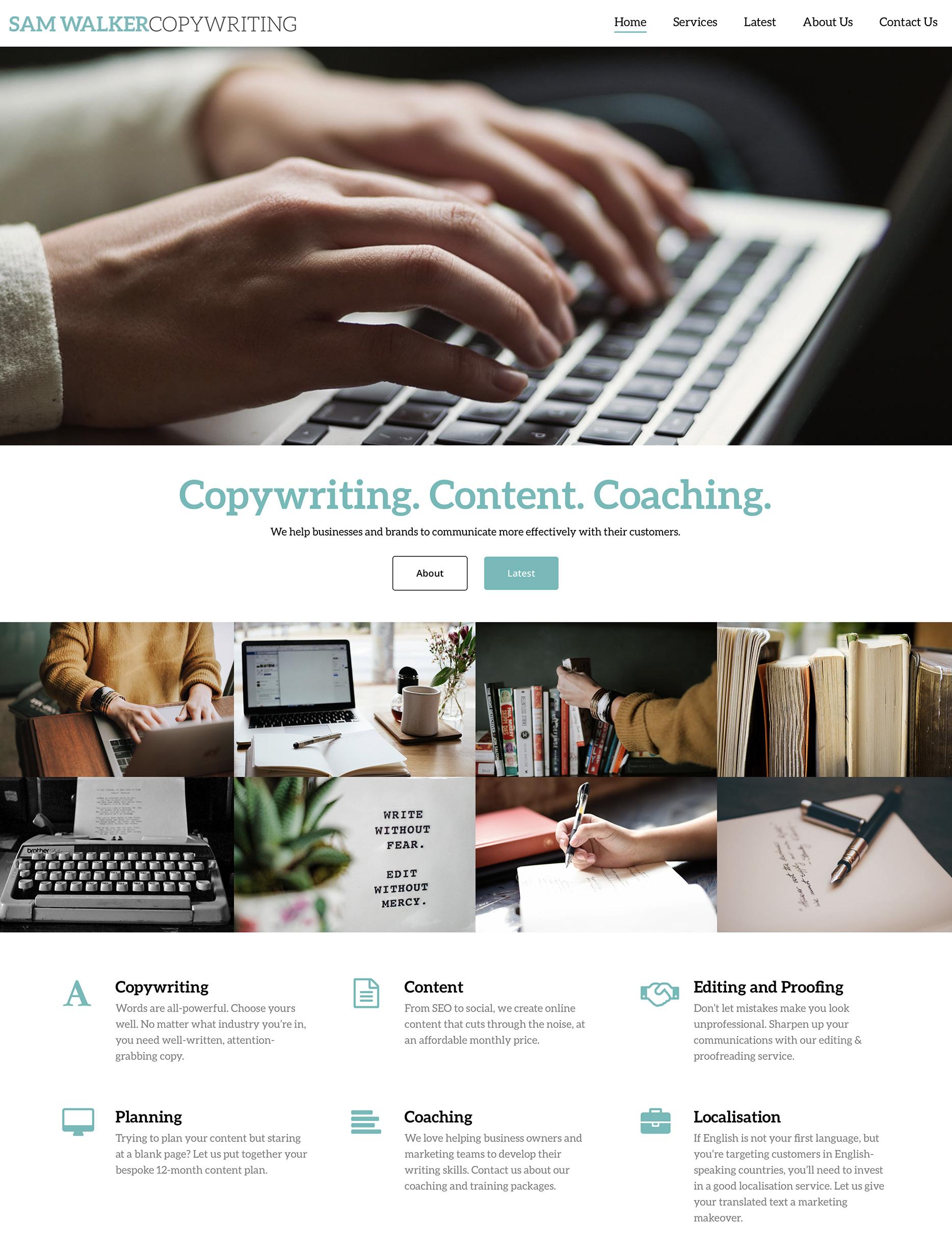 New website for Sam Walker Copywriting